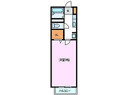 京屋ビル[205号室]の間取り