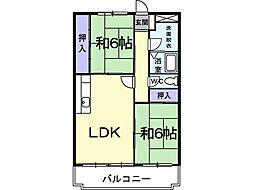 リバーサイド藤[3階]の間取り