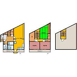 [一戸建] 静岡県三島市大宮町1丁目 の賃貸【/】の間取り