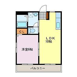 ヤマヨシマンション[202号室]の間取り