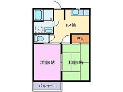メゾンタカナシ[2階]の間取り