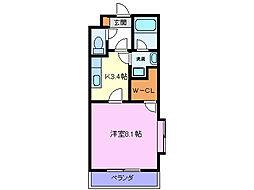 メゾンクレール・I[202号室]の間取り