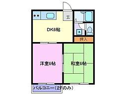 タウニィ125[1階]の間取り