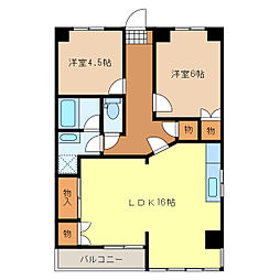 パープルマンション[301号室]の間取り