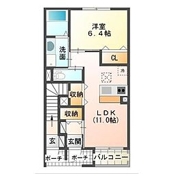 仮)金沢新築アパート(東建)[101号室]の間取り