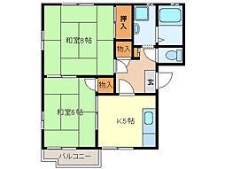 ファーストハイツA棟[A201号室]の間取り