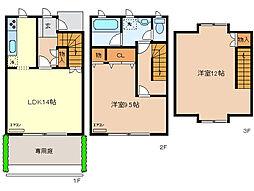 [テラスハウス] 栃木県足利市利保町1丁目 の賃貸【/】の間取り