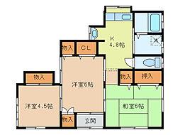 [一戸建] 栃木県足利市上渋垂町 の賃貸【/】の間取り