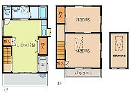 [一戸建] 栃木県足利市助戸2丁目 の賃貸【/】の間取り