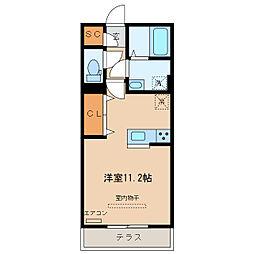 栃木県足利市福居町の賃貸アパートの間取り