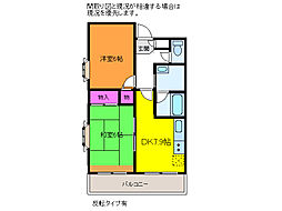 カナン花園[8階]の間取り