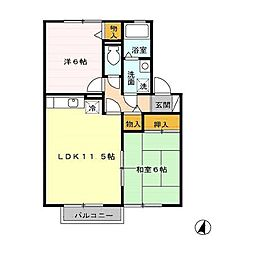 フローラルアベニューC[2階]の間取り