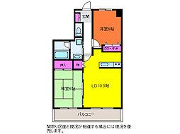 リファーレ新和[4階]の間取り