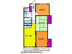 新潟駅南ハイツ[5階]の間取り
