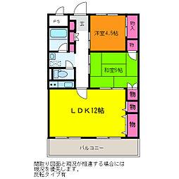 新潟県新潟市中央区高志2丁目の賃貸マンションの間取り