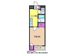 藤コーポ(けやき通り)[2階]の間取り