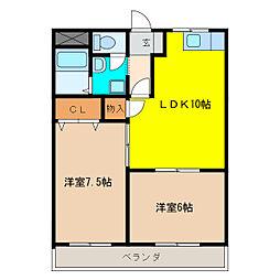レジデンス376[1階]の間取り