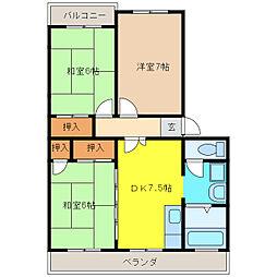 ホープ21[2階]の間取り