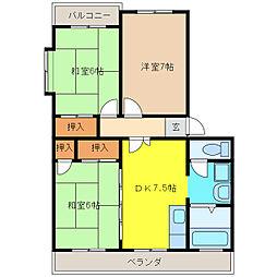 ホープ21[3階]の間取り