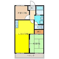 セジュール水田[2階]の間取り