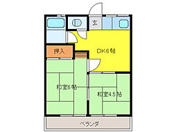 千國マンション[3階]の間取り