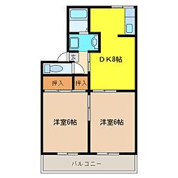 メゾンドデボラ[2階]の間取り