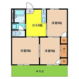 ボナール福塚[1階]の間取り