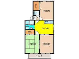 ロイヤルガーデン田中[1階]の間取り