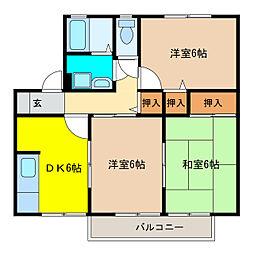 ミレニアムFUSO[1階]の間取り