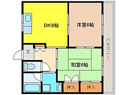 グレース犬山II[3階]の間取り