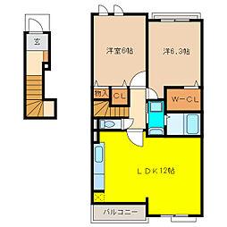 サニーホームII[2階]の間取り