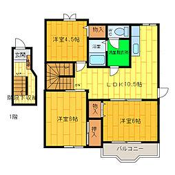 グリーンヒルTADA B[2階]の間取り