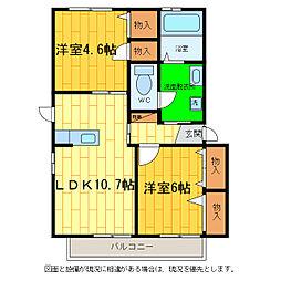 シャーメゾン藍住B[203号室]の間取り