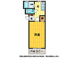 第25愛日ハイツ[2階]の間取り