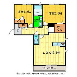 メゾンドホルト[3階]の間取り