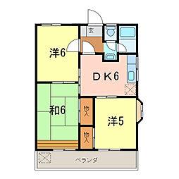 愛知県知立市八橋町町田の賃貸アパートの間取り
