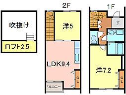 [テラスハウス] 愛知県高浜市向山町5丁目 の賃貸【愛知県 / 高浜市】の間取り