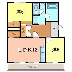 マンション小高原[4階]の間取り