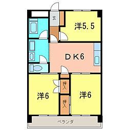 東栄マンション[6階]の間取り