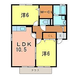 愛知県刈谷市御幸町4丁目の賃貸アパートの間取り
