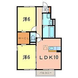 愛知県高浜市呉竹町4丁目の賃貸アパートの間取り