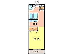 クリーンハイツ安井III[3階]の間取り
