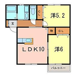 シティベルIYODA C棟[1階]の間取り