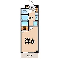 埼玉県熊谷市万平町2丁目の賃貸アパートの間取り