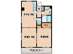 Rグレイスマンション[601号室]の間取り