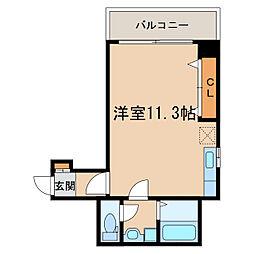 M・ほおずき[3階]の間取り
