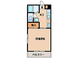 ピュアル1[3階]の間取り