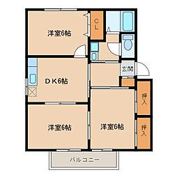 ディアスさくらA棟B棟 [1階]の間取り