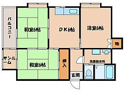 サンロード寿B棟[4階]の間取り