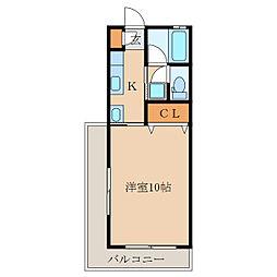 札元大丸マンション[301号室]の間取り